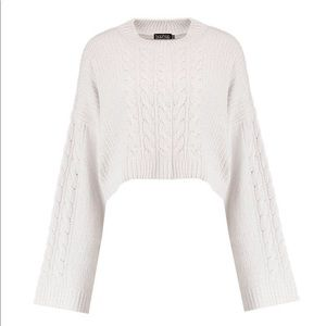 boohoo • cable knit crop sweater